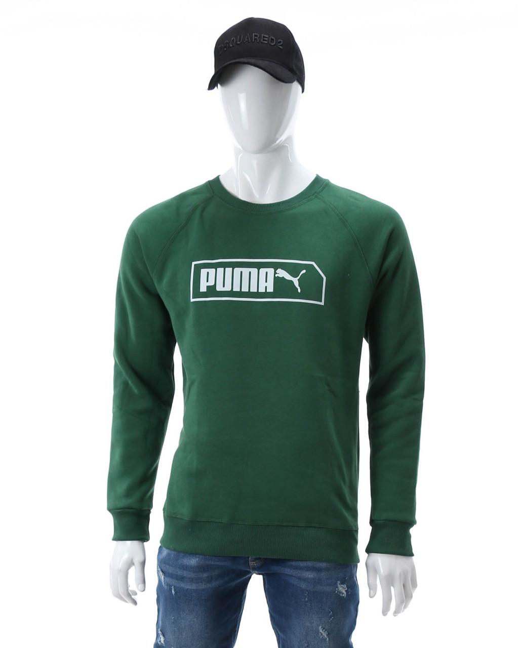 Свитшот осень-зима зеленый PUMA с лого Р-1 GRN L(Р) 20-411-103