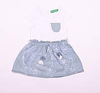 Детский сарафан для девочки белый,  размер  1, 2, 3, 4 года.