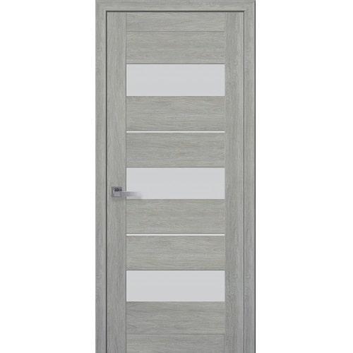Дверное полотно Лилу (стекло сатин) дуб дымчастый