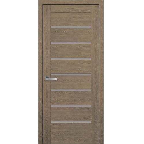 Дверное полотно Леона (стекло сатин) дуб медовый