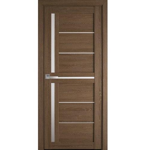 Дверное полотно Диана (стекло сатин) дуб медовый
