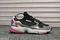 """Женские Кроссовки Adidas Falcon """"Black Pink"""" - """"Черные Серые Розовые"""", фото 1"""