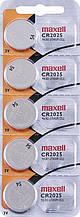Батарейка Maxell Lithium (Hologramm) CR2025 BL 5 шт