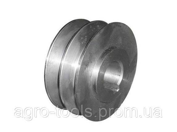 Шкив двухручьевой (наружный диаметр 76 мм, внутренний 20 мм, профиль В), фото 2