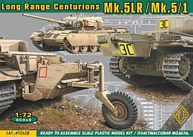Centurion Mk.3/5 (дальнего действия). Сборная модель танка в масштабе 1/72. ACE 72428