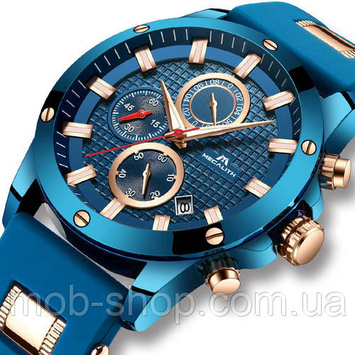 Наручные часы Megalith 0140M Blue-Cuprum Оригинал годовая гарантия на механизм