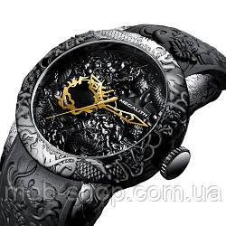 Наручные часы Megalith 8041M All Black Dragon Sculpture Оригинал годовая гарантия на механизм