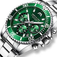 Наручные часы Megalith 8046M Silver-Green Оригинал годовая гарантия на механизм