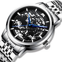 Наручные часы Megalith 8204 Silver-Black Оригинал годовая гарантия на механизм