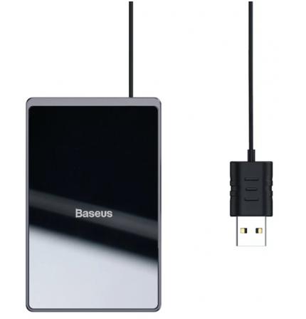 Беспроводное зарядное устройство Baseus Card Ultra-Thin 15W with USB cable 1м (WX01B-01) Black