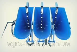 """Чесночная сажалка """"Премиум"""" 3-х рядная (для мотоблока и мототрактора, ложки увеличенные Ø34), фото 3"""