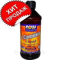 Now Foods, Sports, жидкий L-карнитин, со вкусом лимона, 1000 мг, 473 мл (16 жидк. унций)