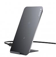 Беспроводное зарядное устройство Baseus Wireless Fast Charging 10W Pad Desktop Holder with USB Type-C Black