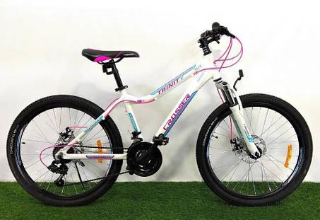 """Подростковый горный велосипед Crosser Trinity 24 размер рамы 15"""" дюймов WHITE, фото 2"""