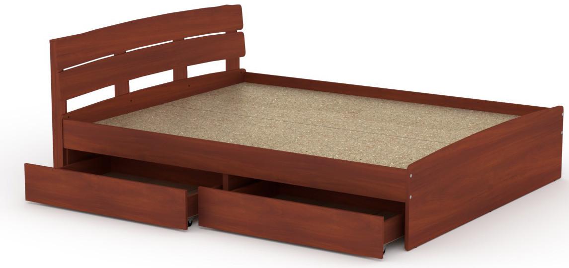 Кровать с 4 ящиками Модерн-140 КОМПАНИТ Яблоня (213.2х145.2х80 см)