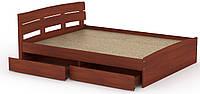 Кровать с 4 ящиками Модерн-140 КОМПАНИТ Яблоня (213.2х145.2х80 см), фото 1