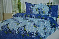 Двуспальное постельное белье East Comfort синее