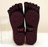 Носки для йоги Пять пальцев 34-38 Чёрный