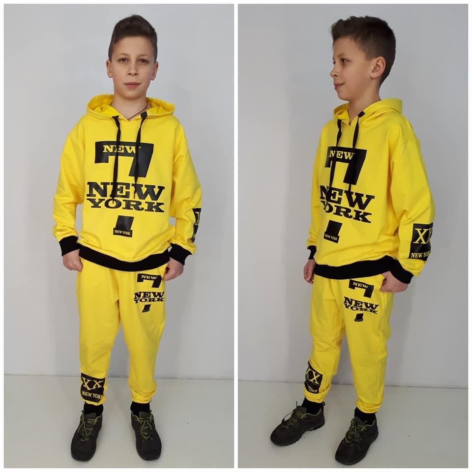 Стильный спортивный костюм New York  на мальчика девочку подростка цвет желтый  128 см