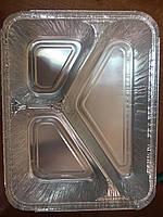 Контейнер пищевой алюминиевый на три деления SC3L 100шт