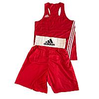 Боксерская форма (майка+шорты) красная