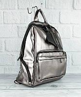Рюкзак большой кожзам женский темное серебро Farfalla Rosso 3078, фото 1