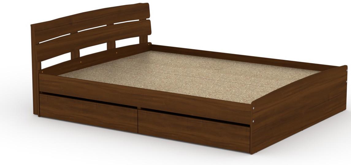 Кровать с 4 ящиками Модерн-160 КОМПАНИТ Орех экко (213.2х165.2х80 см)