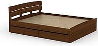 Кровать с 4 ящиками Модерн-160 КОМПАНИТ Орех экко (213.2х165.2х80 см), фото 1