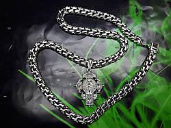 Серебряная цепочка с крестом