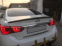 Спойлер багажника ( лип спойлер, сабля ) Infiniti Q50 2013+ г.в. стекловолокно