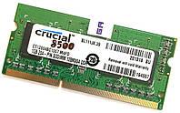 Оперативная память для ноутбука Crucial SODIMM DDR3 1Gb 1066MHz 8500s 1R16 CL7 (CT12864BC1067.M4FD) Б/У, фото 1