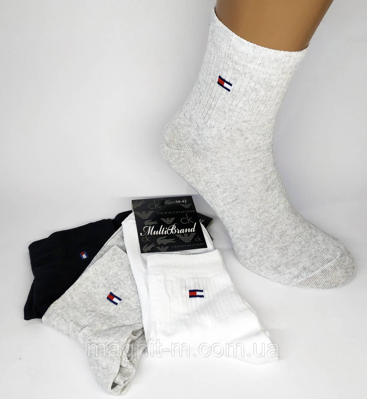 """Чоловічі спортивні шкарпетки """"Multi Brand"""". Р-Р 42-45. Середньої висоти. (Роздріб)."""