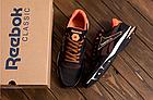 Чоловічі кросівки літні сітка Reebok коричневі (репліка), фото 4