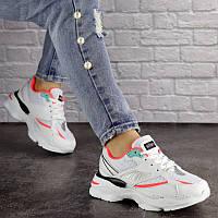 Женские кроссовки Caruso белого цвета с яркими элементами