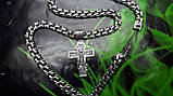 Серебряная цепочка с крестиком, фото 6