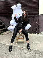 Мягкая плюшевая игрушка Зайка Хрум, 130 см, белый