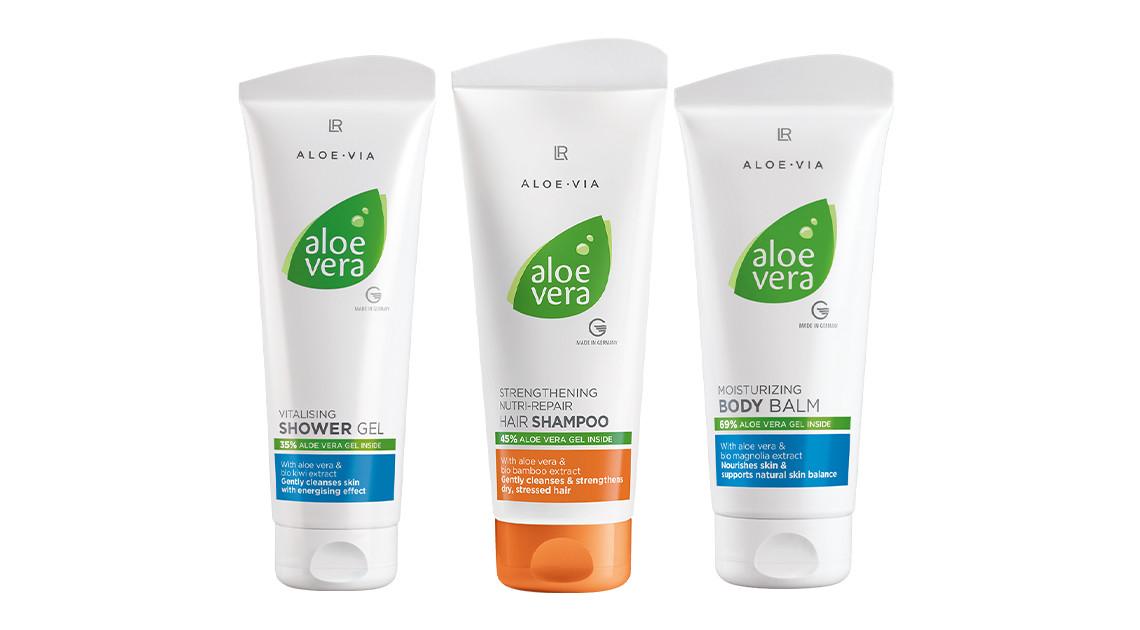 Aloe Via Aloe Vera Набор для волос и тела