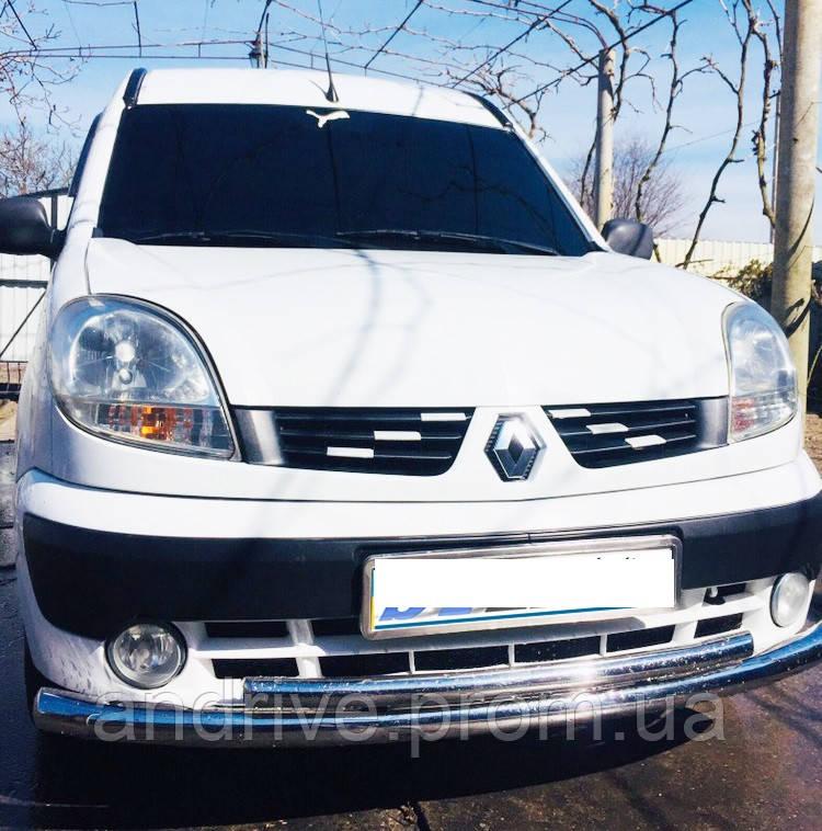 Защита переднего бампера (ус двойонй) Renault Kangoo 1998-2008