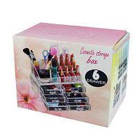 Настольный ящик органайзер для хранения косметики Beauty Box 6 Drawer