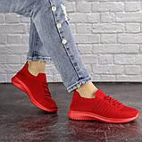 Кроссовки женские красные, фото 3