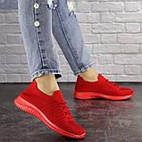 Кроссовки женские красные, фото 4