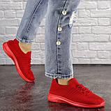 Кроссовки женские красные, фото 5