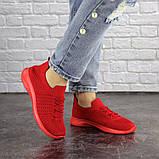 Кроссовки женские красные, фото 7