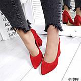 Туфли из натуральной замши красные, фото 4