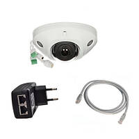 Комплект IP камера над дверью 4Мп со звуком