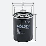 Фильтр масляный MOLDER OF93 (аналог WL7093/OC203/W71319), фото 3