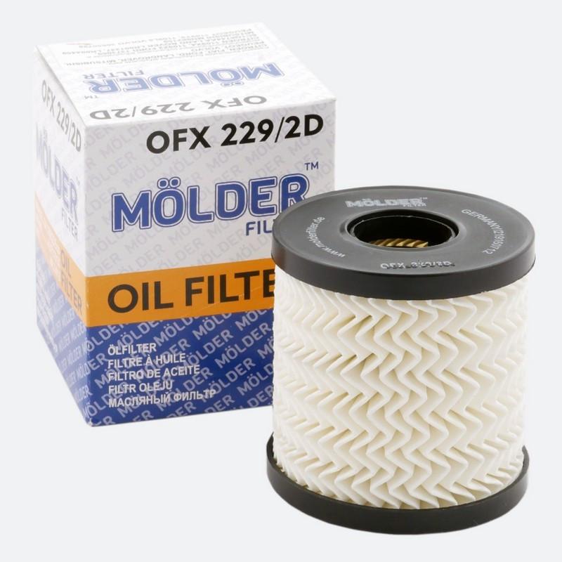 Фильтр масляный MOLDER OFX2292D (аналог WL7413/OX339/2DE/HU71151X)