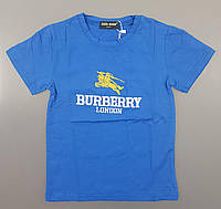 {есть:4 года} Футболка Burberry для мальчиков,  Артикул: P8010-1-синие [4 года]