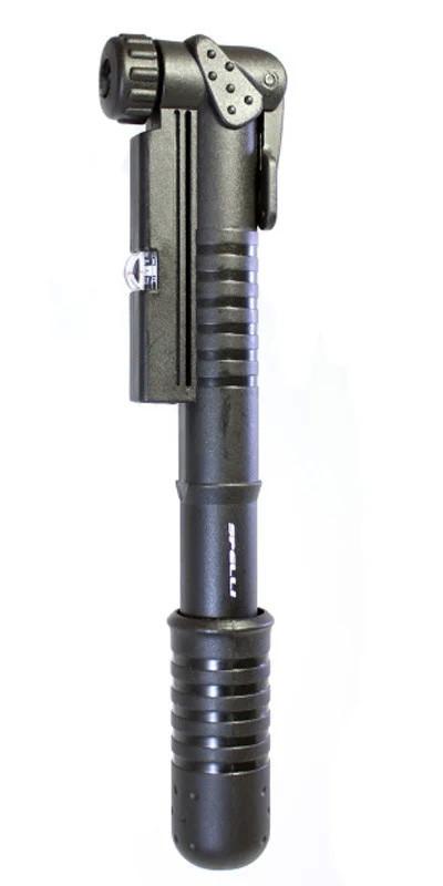 Насос міні SPELLI SPM-141Р з манометром під два клапана AV+FV чорний