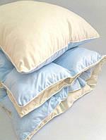 Комплект детский одеяло и подушка голубой